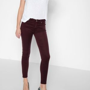 7 for All Mankind Skinny Mid Rise Jeans Sz 25